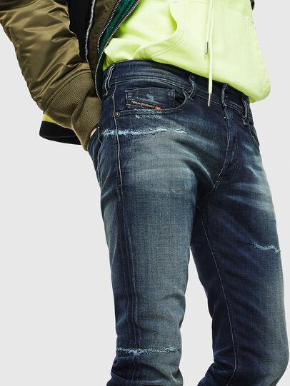 Diesel - Sleenker 0097P, Dunkelblau - Jeans - Image 3