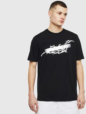T-JUST-T11, Schwarz - T-Shirts