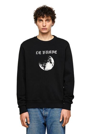 Green Label Sweatshirt mit Mondprint