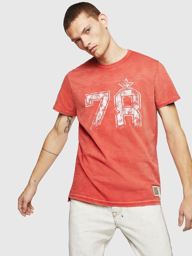 T-DIEGO-CUT-AB, Feuerrot - T-Shirts