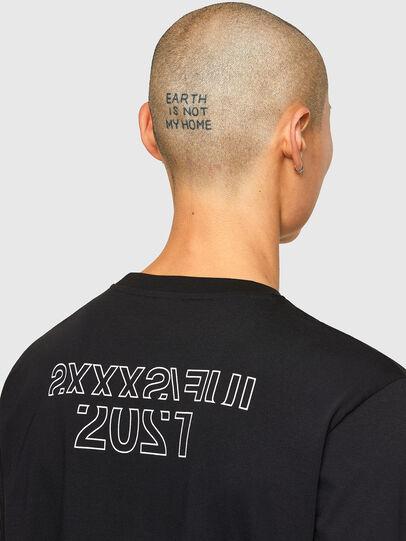 Diesel - CL-T-JUST-LS-O, Schwarz - T-Shirts - Image 5