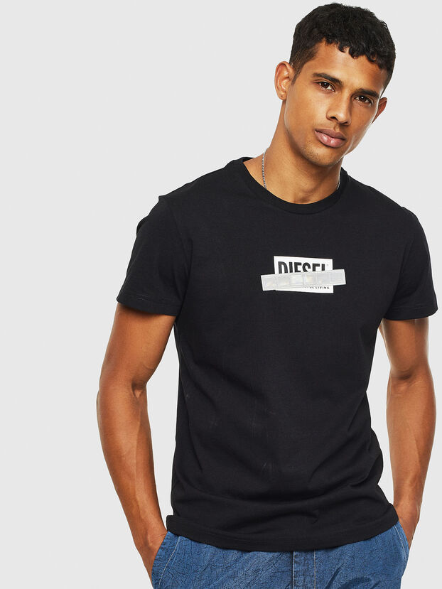 T-DIEGO-S7, Schwarz - T-Shirts
