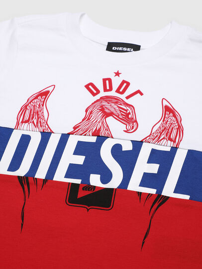 Diesel - TRICKYB-R, Weiß/Rot/Blau - T-Shirts und Tops - Image 3