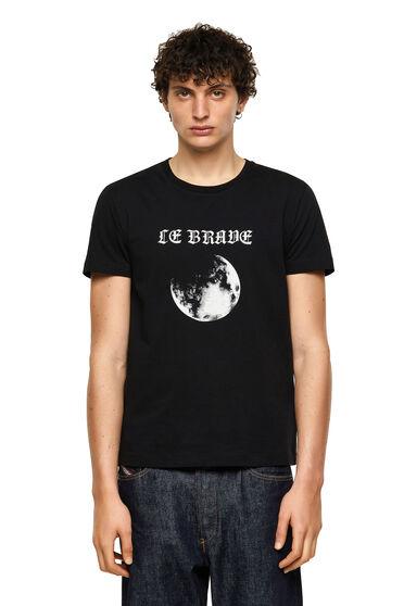 Green Label T-Shirt mit Mondprint