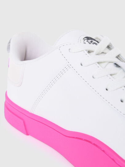 Diesel - S-CLEVER LOW LACE W, Weiss/Rosa - Sneakers - Image 4