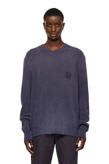 Behandelter, gerippter Pullover