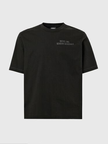 """T-Shirt mit farblich abgestimmtem """"Schedule""""-Aufdruck"""