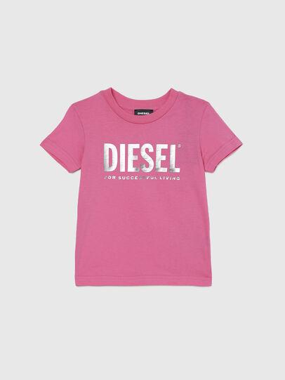 Diesel - TJUSTLOGOB-FL MC-R, Rosa - T-Shirts und Tops - Image 1