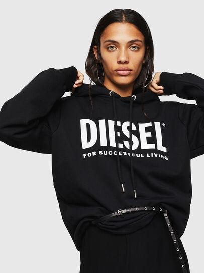 Diesel - F-GIR-HOOD-DIV-LOGO-, Schwarz - Sweatshirts - Image 3