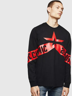 T-JUST-LS-STAR, Schwarz - T-Shirts