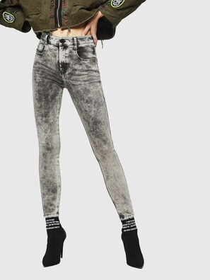 Slandy High 069GQ, Hellgrau - Jeans