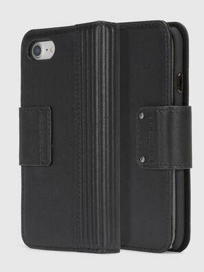 BLACK LINED LEATHER IPHONE 8/7 FOLIO,  - Klappcover
