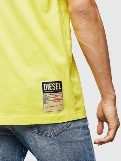 Diesel - T-JUST-B23, Gelb - T-Shirts - Image 4