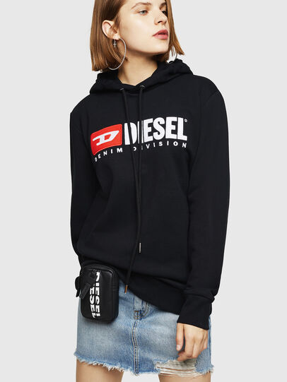 Diesel - F-GIR-HOOD-DIVISION-, Schwarz - Sweatshirts - Image 1