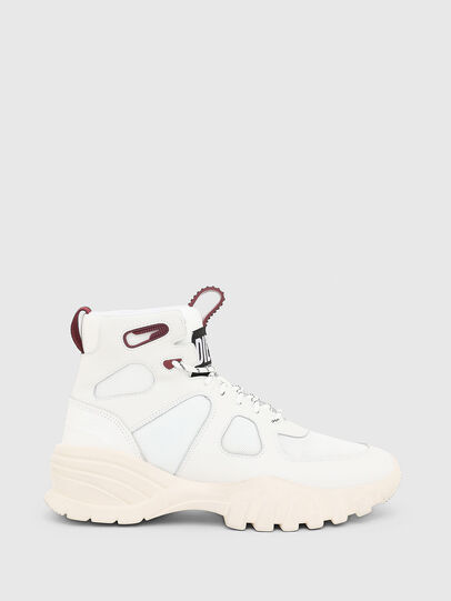Diesel - S-SHARQUEZ MID, Weiß/Rot - Sneakers - Image 4