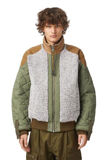 Bahnenjacke aus mattiertem Fleece