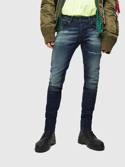 Diesel - Sleenker 0097P, Dunkelblau - Jeans - Image 1