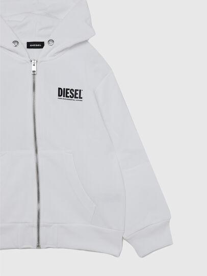 Diesel - SGIRKHOODZIP-LOGO OV, Weiß - Sweatshirts - Image 4