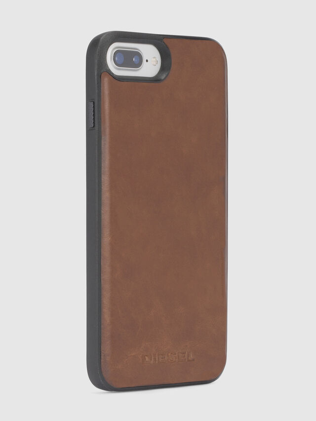 Diesel BROWN LEATHER IPHONE X CASE, Braun - Schutzhüllen - Image 5