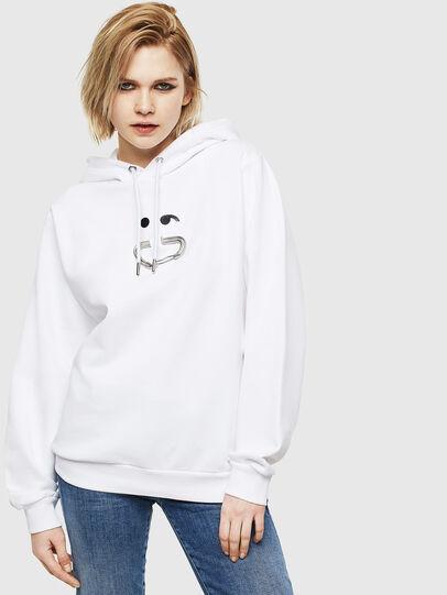 Diesel - F-ANG-HOOD-S1, Weiß - Sweatshirts - Image 1