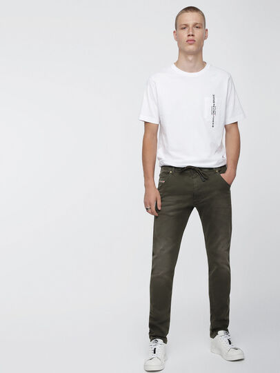 Diesel - Krooley JoggJeans 0670M, Armeegrün - Jeans - Image 4