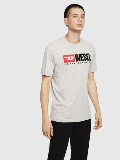 Diesel - T-JUST-DIVISION, Hellgrau - T-Shirts - Image 1