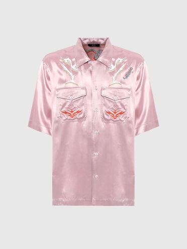 Hemd mit kubanischem Kragen und Stickereien