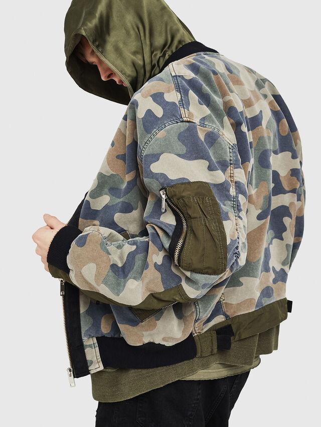 Diesel - D-AZLEY JOGGJEANS, Camouflagegrün - Denim jacken - Image 4
