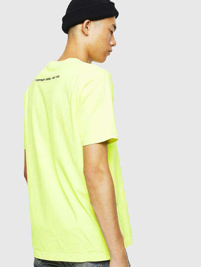 Diesel - T-JUST-SLITS-FLUO, Neongelb - T-Shirts - Image 3