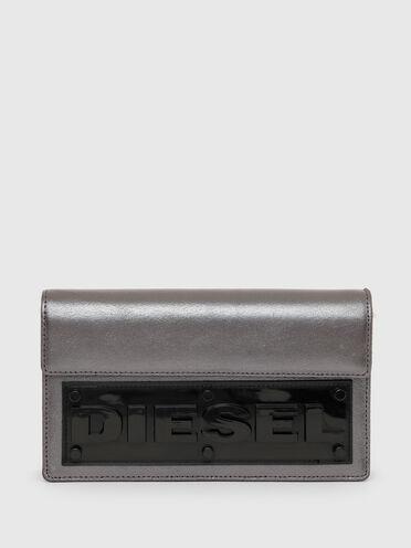 Handtaschen-Portemonnaie mit Diesel-Logo in Reliefoptik