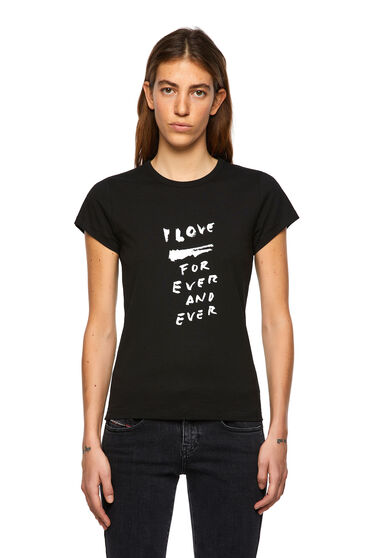 T-Shirt mit Love for Ever-Print