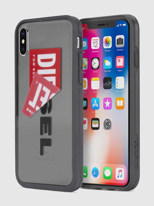 Diesel - STICKER IPHONE X CASE, Schwarz - Schutzhüllen - Image 1