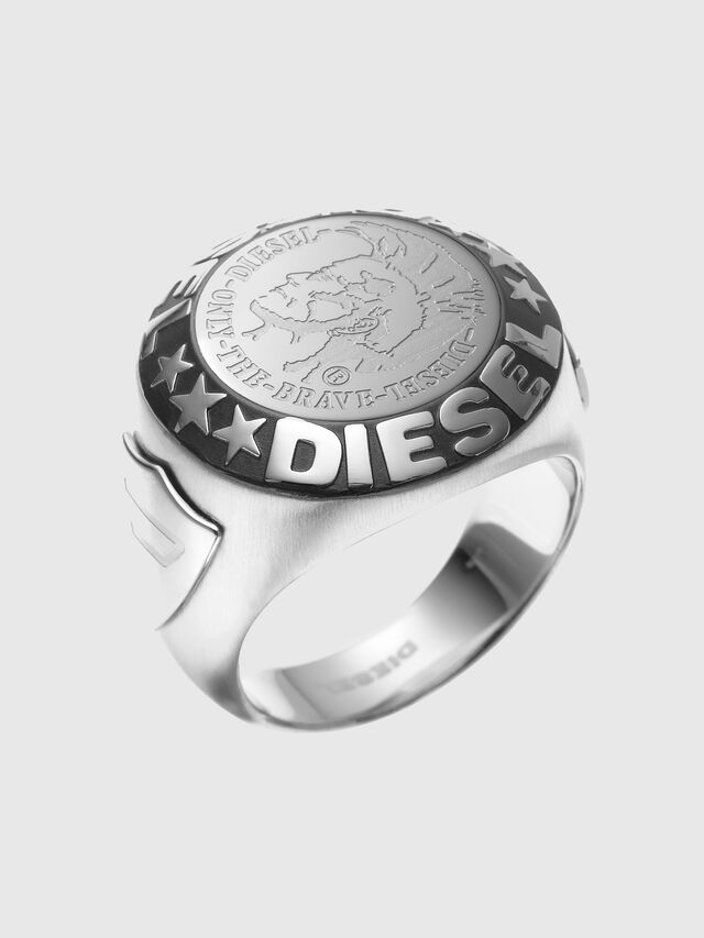 Diesel - RING WITH AN INDIAN, Silber - Ringe - Image 1