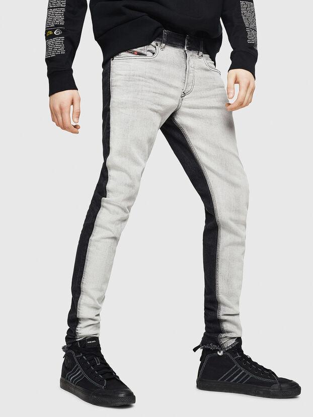 Sleenker 082AX, Schwarz/Dunkelgrau - Jeans