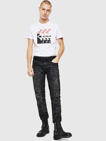 Diesel - T-DIEGO-J12, Weiß/Schwarz - T-Shirts - Image 4