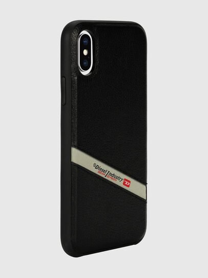 Diesel - DIESEL LEATHER CO-MOLD CASE FOR IPHONE XS & IPHONE X, Schwarz - Schutzhüllen - Image 6