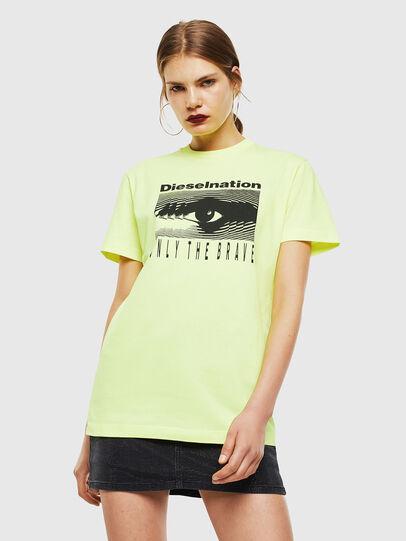 Diesel - T-DIEGO-J4, Neongelb - T-Shirts - Image 2