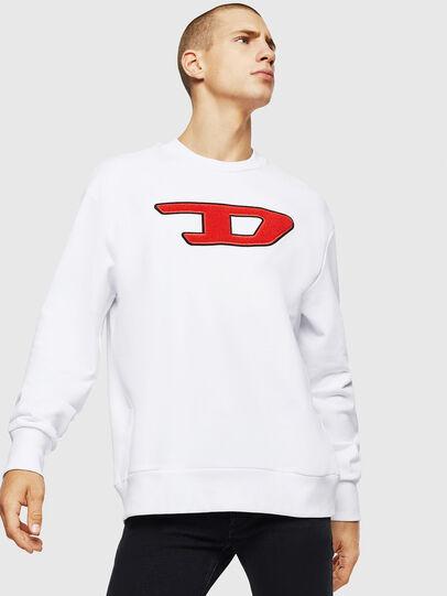 Diesel - S-CREW-DIVISION-D, Weiß - Sweatshirts - Image 1