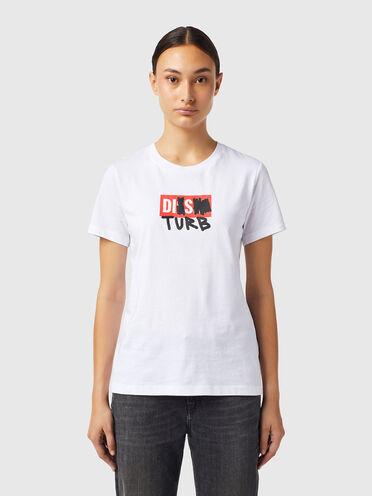 T-Shirt mit DISTURB-Logo