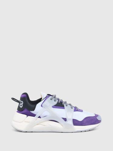 Mehrlagige Sneakers aus Nylon und Leder