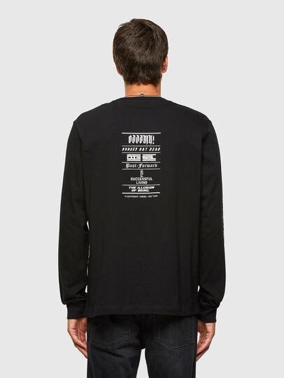 Diesel - T-JUST-LS-N61, Schwarz - T-Shirts - Image 2
