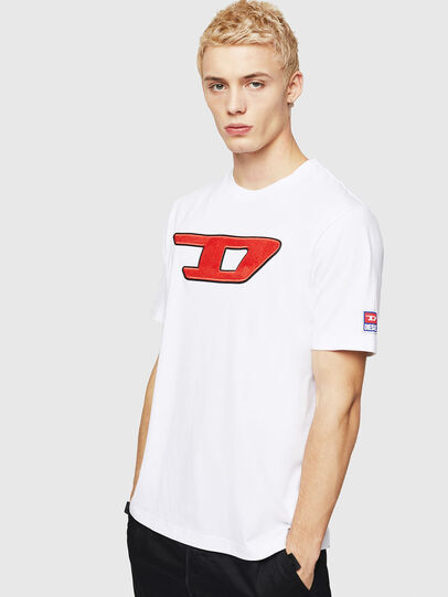 Diesel - T-JUST-DIVISION-D, Weiß - T-Shirts - Image 1