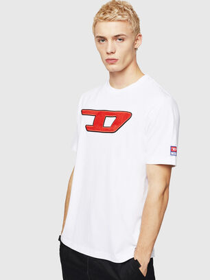 T-JUST-DIVISION-D, Weiß - T-Shirts