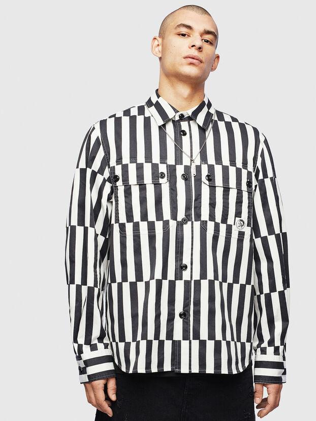 S-JESSY-B, Weiß/Schwarz - Hemden