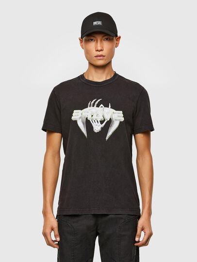Diesel - T-DIEBIND-SLITS-A2, Schwarz - T-Shirts - Image 1