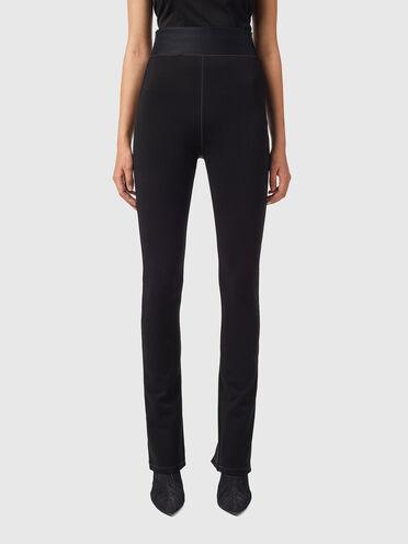 Hose aus Milano-Strick mit hohem Taillenbund
