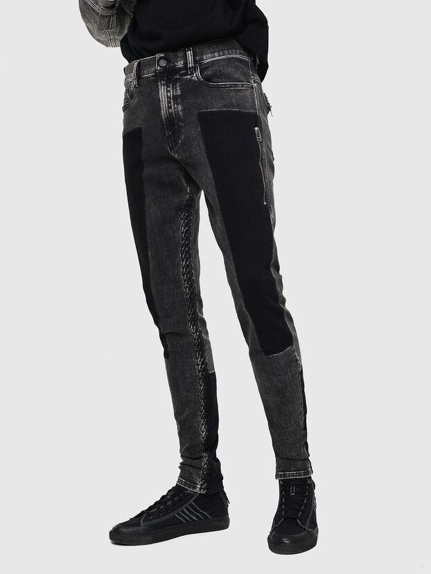 D-Amny 0890T, Schwarz/Dunkelgrau - Jeans