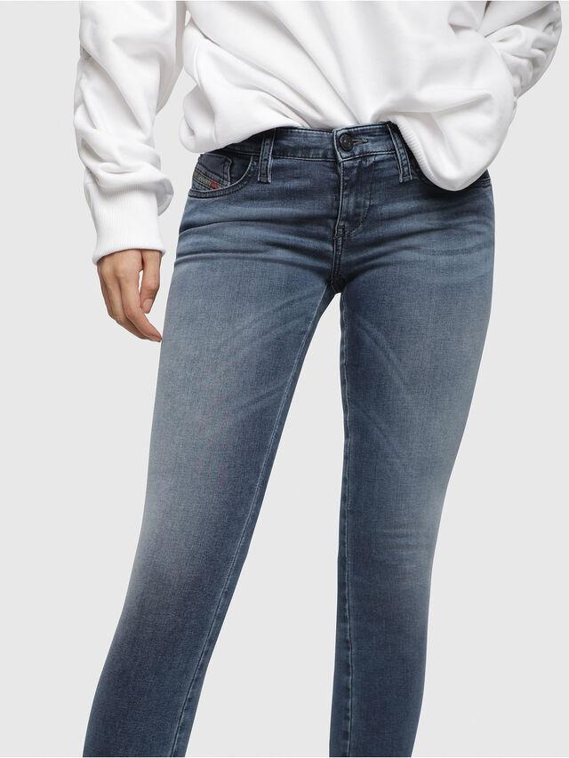 Diesel - Skinzee Low Zip 0681P, Mittelblau - Jeans - Image 3