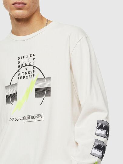 Diesel - T-JUST-LS-J3, Weiß - T-Shirts - Image 3