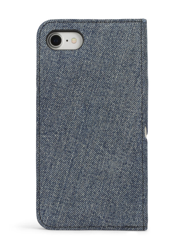 Diesel - DENIM IPHONE 8 PLUS/7 PLUS FOLIO, Jeansblau - Klappcover - Image 5